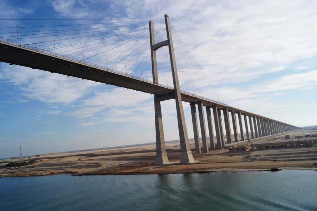Ship blocked the Suez canal causing a six days business interruption